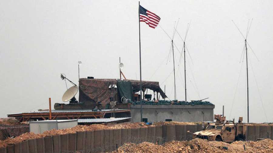Puesto de las tropas de EE.UU. a las afueras de Manbij, en Siria. Foto: Delil souleiman / AFP