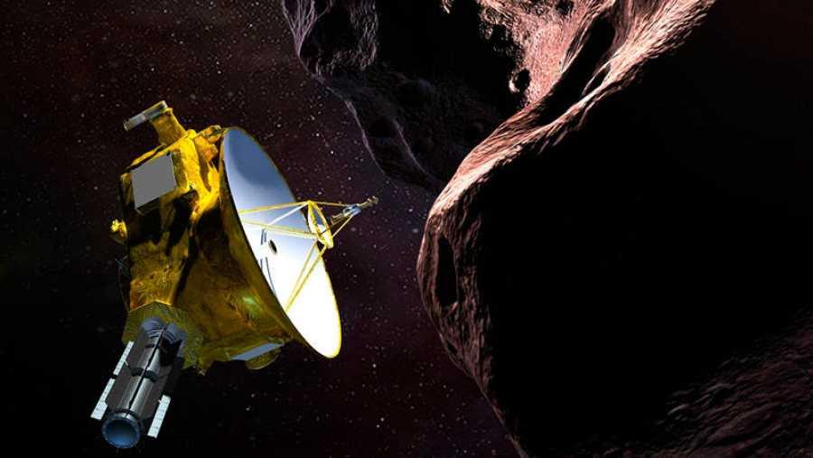 Recreación del encuentro de la sonda New Horizons con el objeto celeste Ultima Thule