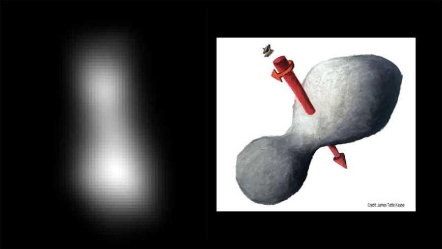 Primera imagen de Ultima Thule, el asteroide que sobrevuela la sonda New Horizons