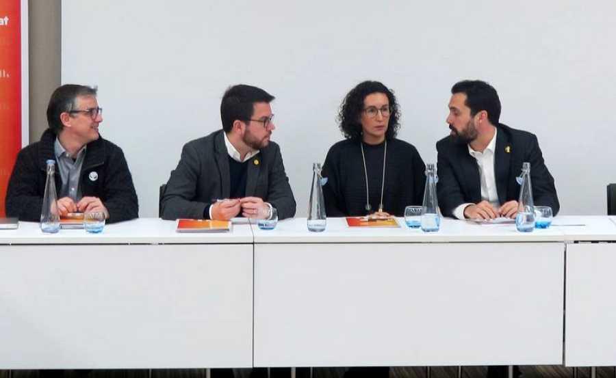 Reunión de la Ejecutiva de ERC en Ginebra, donde huyó la secretaria general del partido, Marta Rovira