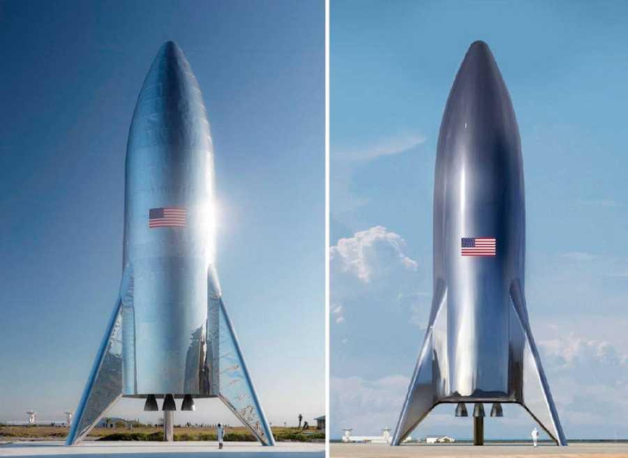 Imagen del Starship Hopper publicada por Elon Musk. ELON MUSK/TWITTER