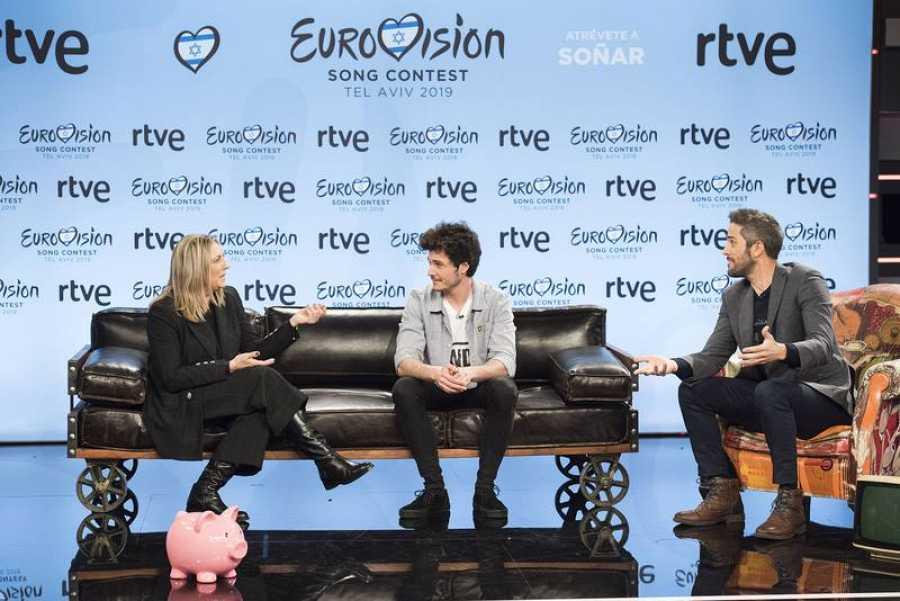 Ana María Bordas, Miki y Roberto Leal durante la rueda de prensa