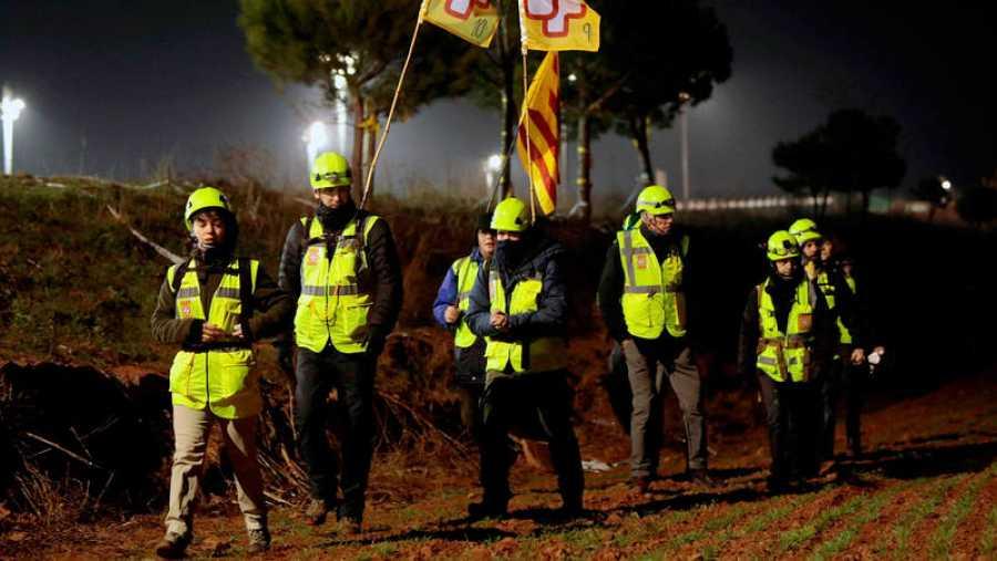 Varios manifestantes se dirigen a la cárcel de Lledoners