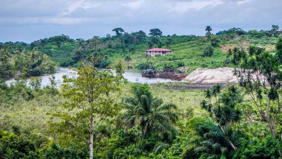Bosque en Liberia