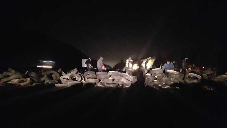 Imagen de los CDR cortando la AP-7 el día que se inicia el juicio del 'procés'