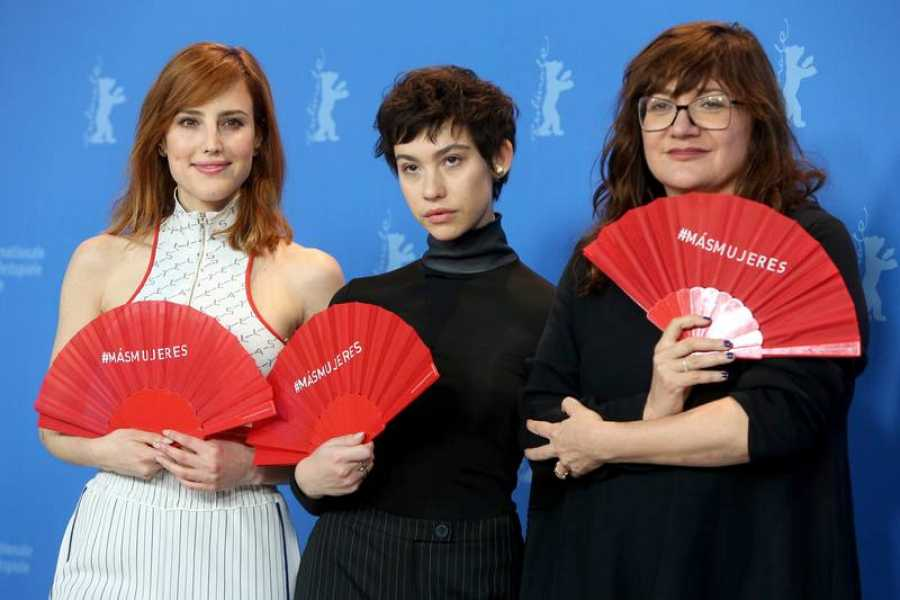 Isabel Coixet, Natalia de Molina y Greta Fernández en la 69ª edición del Festival Internacional de Cine de Berlín
