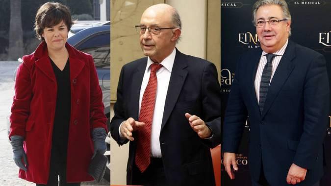 La exvicepresidenta y dos exministros