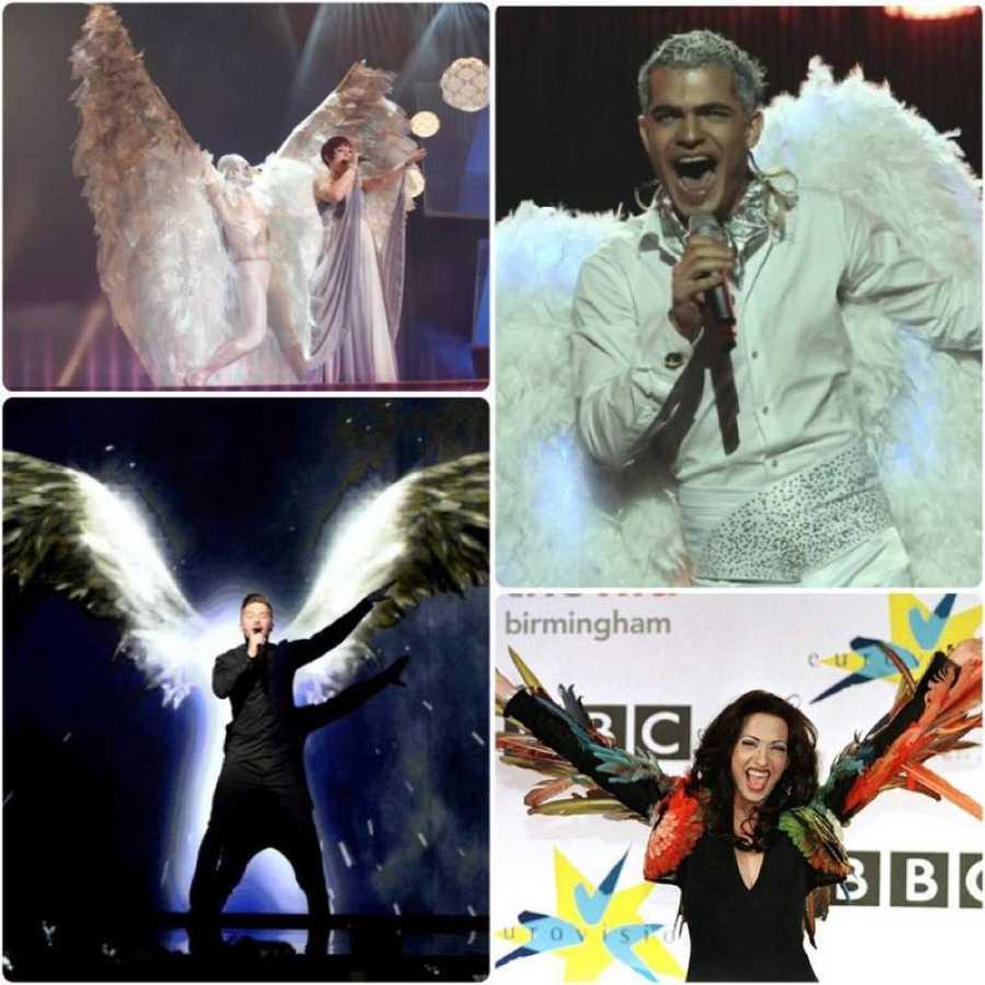 Alas y plumas en Eurovisión
