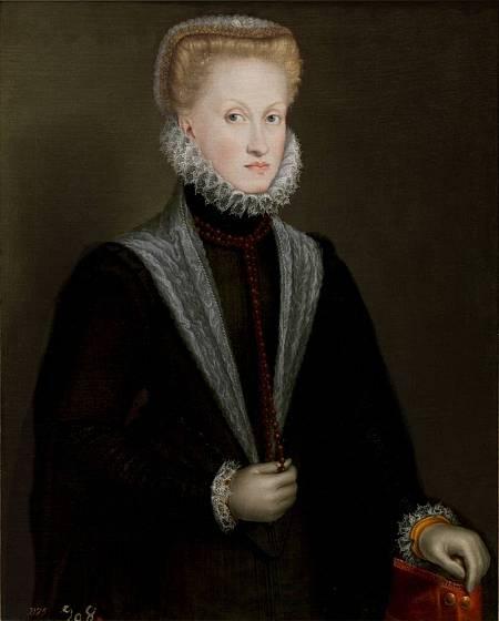 'Retrato de la reina Ana de Austria'. 1573. Sofonisba Anguissola. Museo del Prado