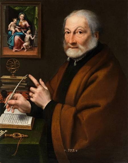 'Giovanni Battista Caselli, poeta de Cremona'. 1557-1558. Sofonisba Anguissola. Museo del Prado.