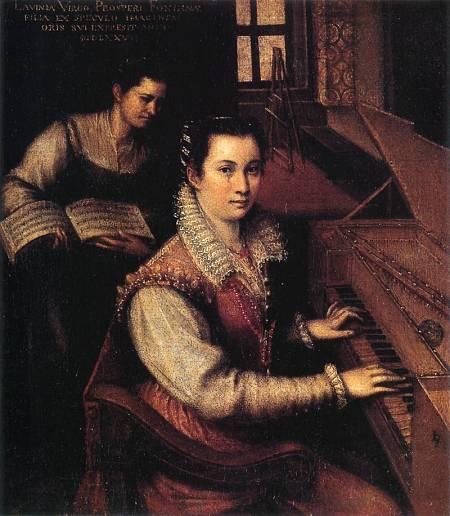 Autorretrato con clavicordio de Lavinia Fontana