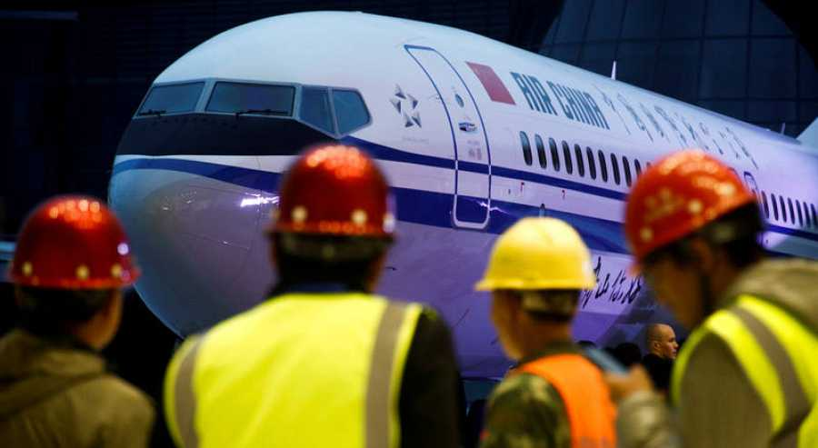FILE PHOTO: Ceremony marking 1st delivery of Boeing 737 Max 8 airplane to Air China in Zhoushan