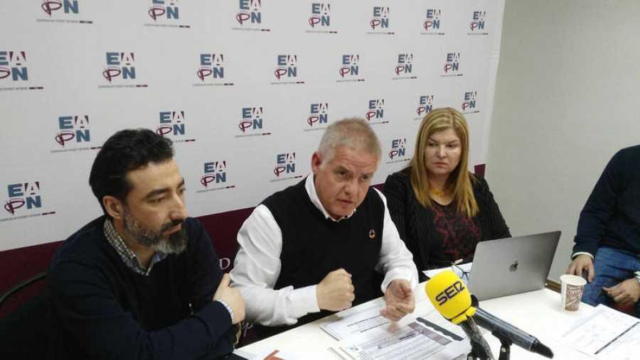 De izquierda a derecha: José Javier López, director de EAPN, España Carlos Susías, presidente de EAPN Europa y Graciela Malgesini, responsable de incidencia política de EAPN España
