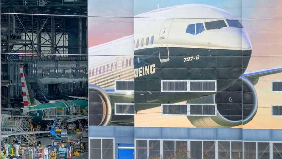 Factoría de Boeing, en la que se produce el 737 Max, situada en Renton (Washington).