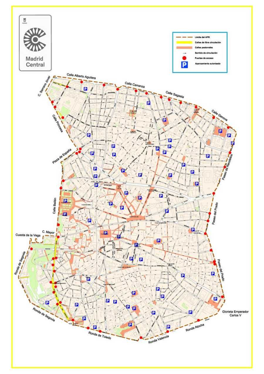 Mapa Zona Azul Y Verde Madrid.Multas Madrid Central