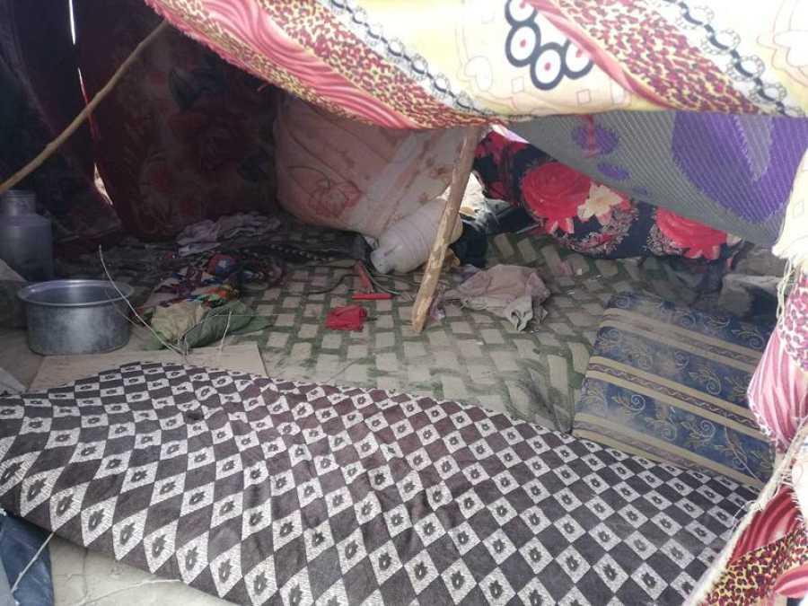 Una de las tiendas abandonadas por los terroristas del Daesh