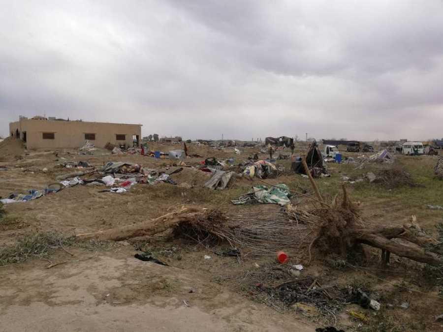 Destrucción en Baguz, Siria
