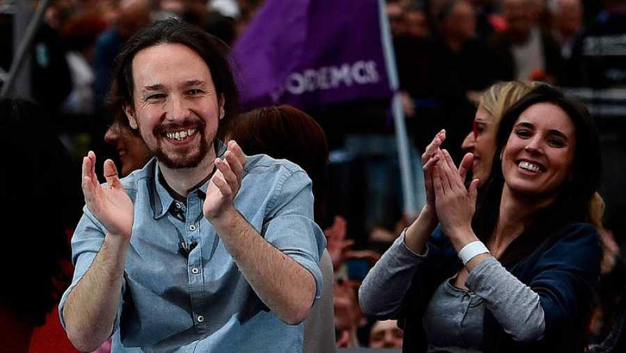 Iglesias vuelve a la política tras su baja por paternidad con un multitudinario mitin en Madrid