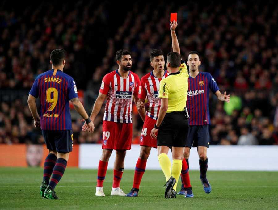 Diego Costa se marchó expulsado