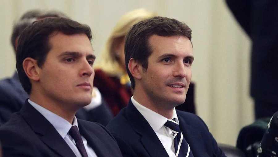 Rivera y Casado, en un acto en Madrid (EFE)