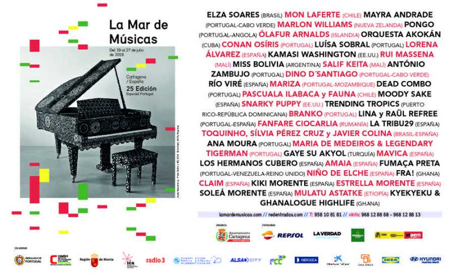 Cartel de la 25º edición de La Mar de Músicas