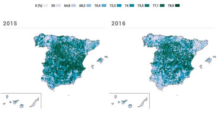 Evolución de la participación en las elecciones generales en España ente 2015 y 2016