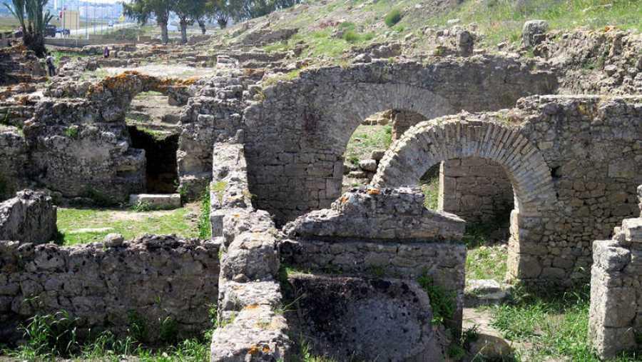 Detalle de los restos de la ciudad romana de Lixus