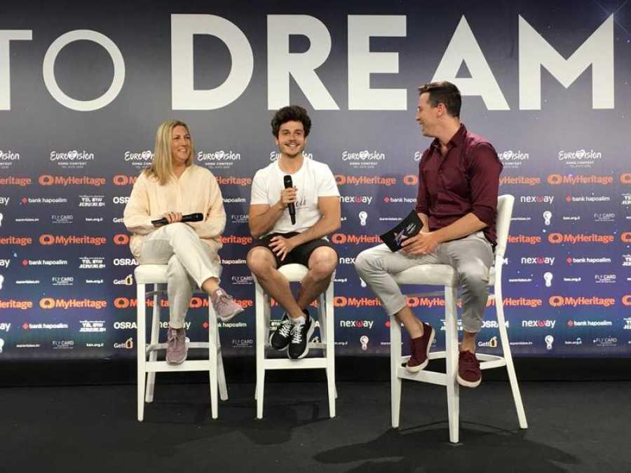 Eurovisión 2019 - Rueda de prensa de Miki tras el primer ensayo