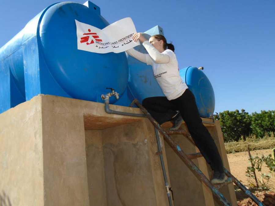 La coordinadora del proyecto de MSF en Krinding, Veronika Cernikova