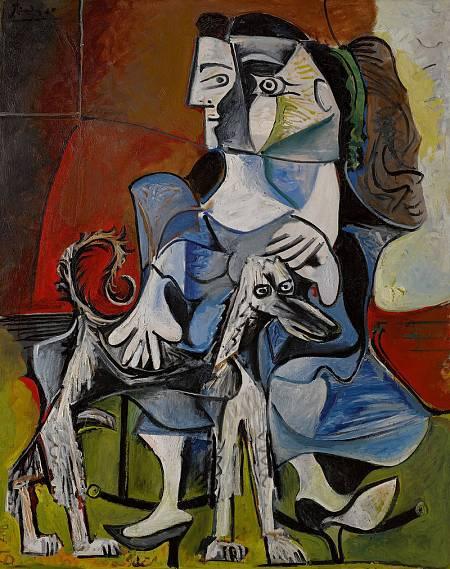 'Mujer con un perro' de Picasso (1962)