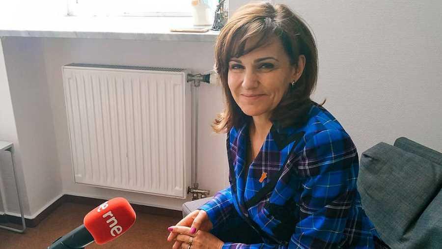 Gabriela Morawska, del partido polacoWiosna, en los micrófonos de RNE