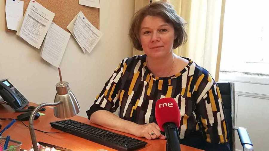 Éva Fodor, vicerrectora de la Universidad Centroeuropea de Budapest, en los micrófonos de RNE.