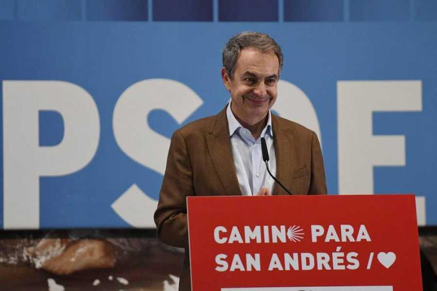 Zapatero participa en un acto de campaña en León