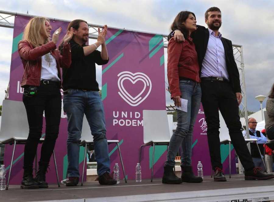 Mitin de Podemos en Alcorcón