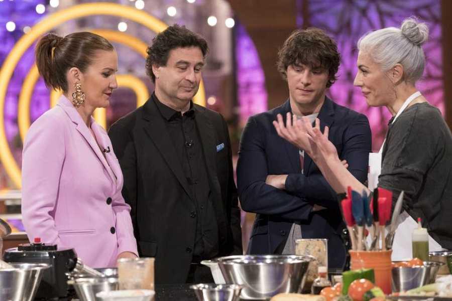 Teresa y los jueces, en un momento de la prueba