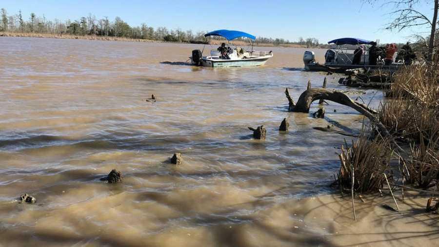 Imagen de los trabajos arqueológicos en el río Mobile.