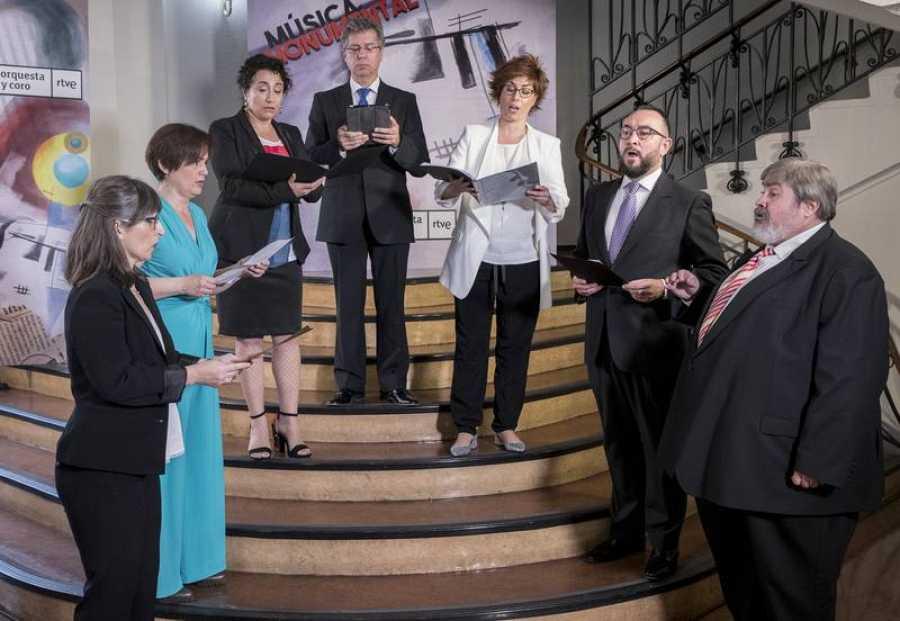 El Coro RTVE ha actuado en la presentación de la nueva temporadada