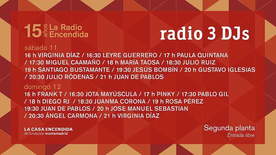La Radio Encendida 2017 DJs.
