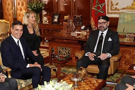 Pedro Sánchez y Mohamed VI (d)