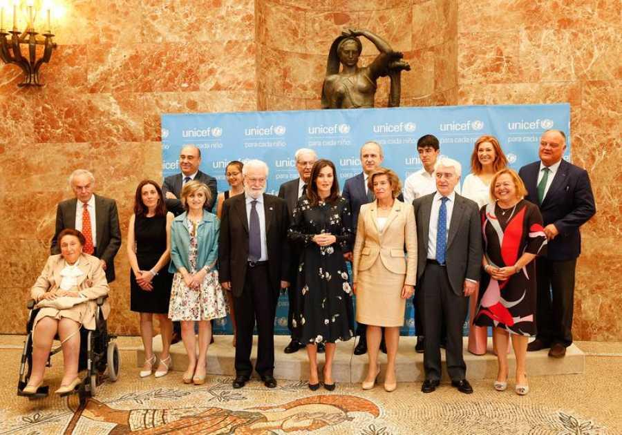 Foto de familia de los premiados, este mediodia de Madrid