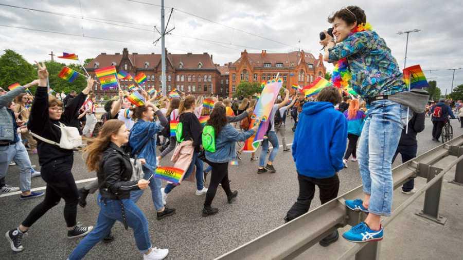 Marcha porla igualdad y la tolerancia celebrada enGdansk el pasado 25 de mayo con ellema