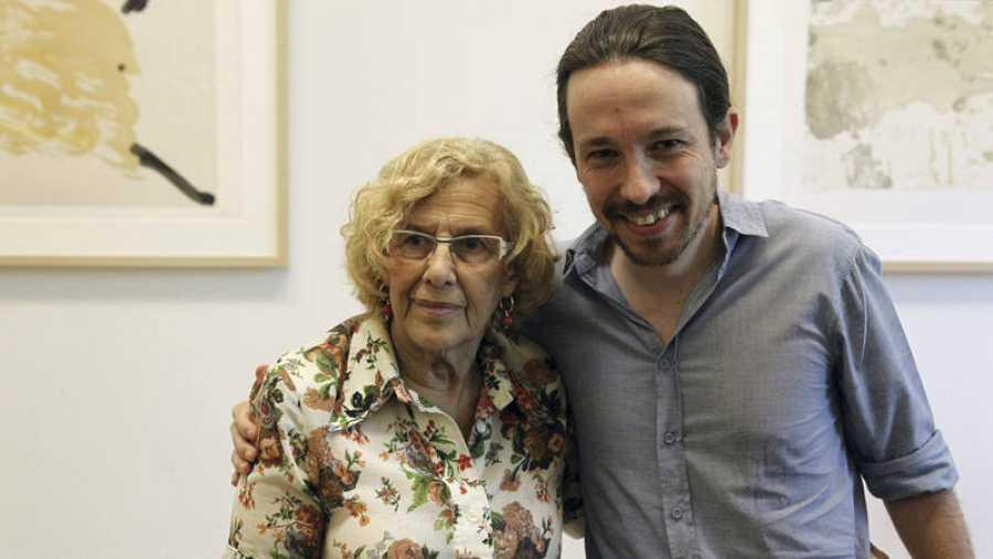 Manuela Carmena y Pablo Iglesias en una imagen de archivo