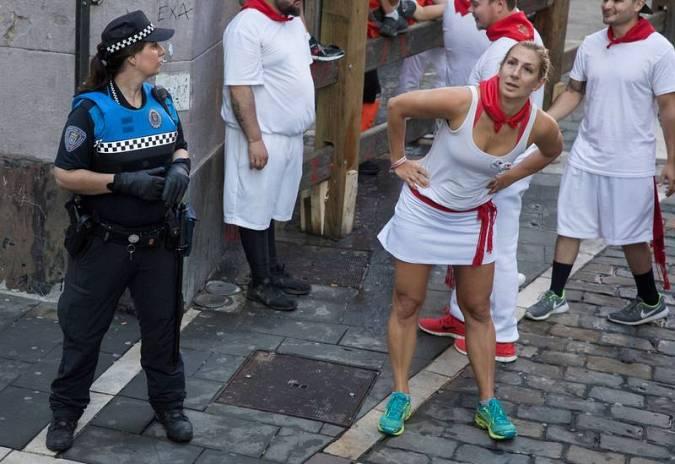 Las mujeres que corren en Sanfermines solo representan un 6% del total de corredores