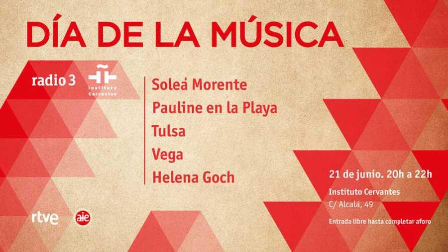 Radio 3 celebra el Día de la Música en el Instituto Cervantes con la mujer como protagonista