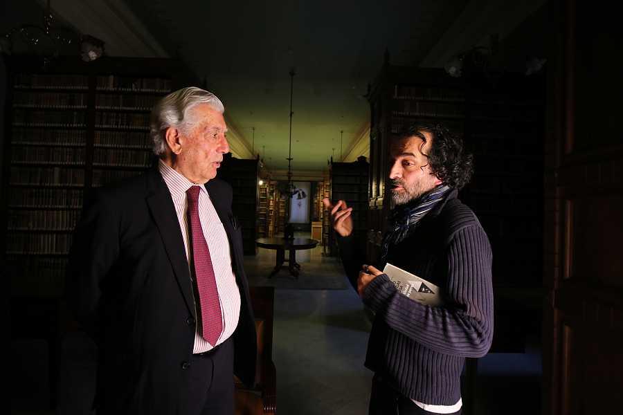 Mario Vargas Llosa y Chema de la Peña