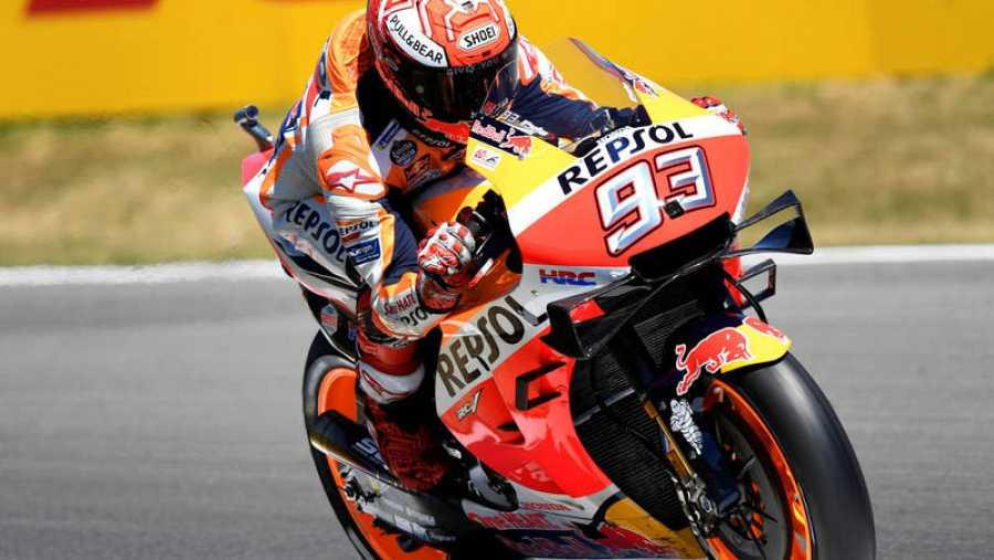 Marc Márquez, durenta la clasificación del GP de Países Bajos