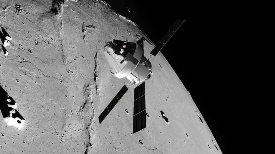 Representación de la nave Orión, con la que la NASA quiere viajar a la Luna y a Marte.