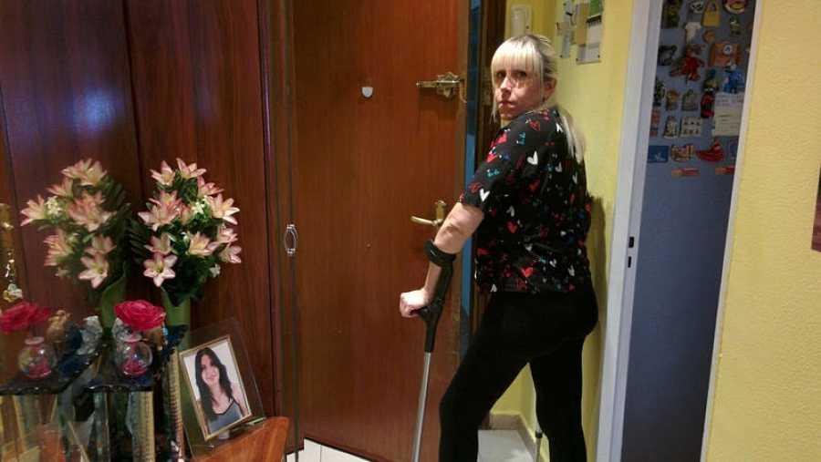 Nuria Rodríguez vive en casa de sus padres en Parla en un edificio sin ascensor