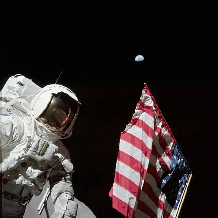 El astronauta Harrison Schmitt, durante la misión Apolo 17