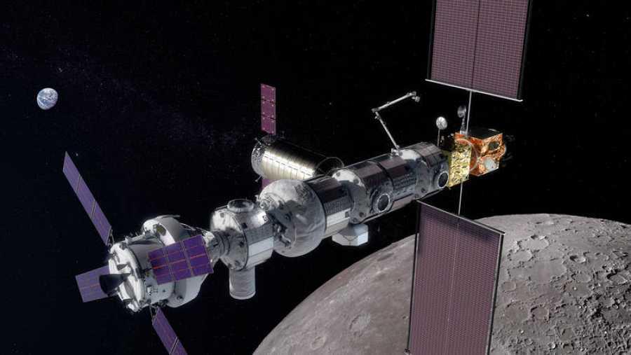 Los planes pasan por construir una estación espacial que orbite la Luna, llamada Gateway (